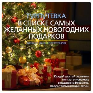 Турпутевка – один из самых желанных новогодних подарков