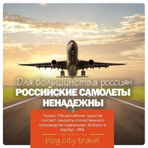 Российские пассажиры не доверяют отечественным самолетам