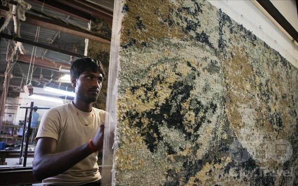 Как делают ковры в Индии