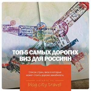 Топ-5 самых дорогих виз для россиян