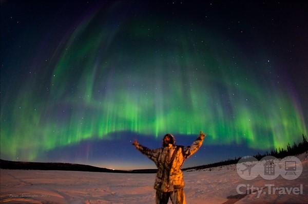северное сияния якутия