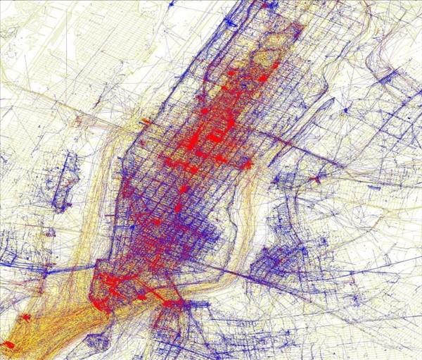 карты притяжения нью-йорк