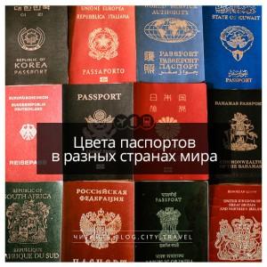 Цвета паспортов в разных странах мира