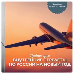 Цифры дня: внутренние перелеты по России на Новый год