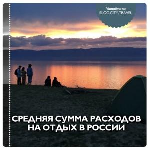 Средняя сумма расходов на отдых в России