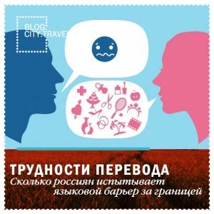 Сколько россиян испытывает языковой барьер за границей