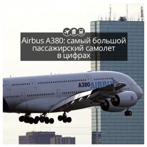 Airbus А380: самый большой пассажирский самолет в цифрах