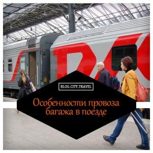 Особенности провоза багажа в поезде