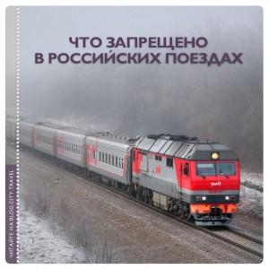 Что запрещено в российских поездах