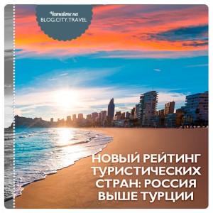 Новый рейтинг туристических стран: Россия выше Турции
