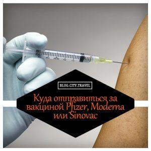 Куда отправиться за вакциной Pfizer, Moderna или Sinovac